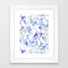 Premonition (Blue Grey) Framed Art Print