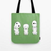 Three wise Kodamas Tote Bag