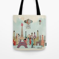 Visit Paris City Tote Bag