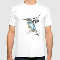 Kingfisher. Mens Fitted Tee White SMALL