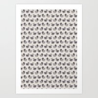 Cute Simple Pigeons Art Print