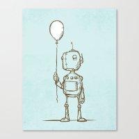 A Robot's Balloon Canvas Print