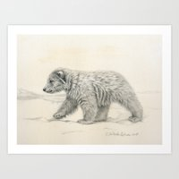 Polar Bear's Cub Art Print