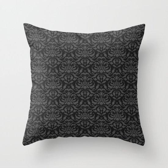 Cloud Factory Damask - Rain Cloud Throw Pillow