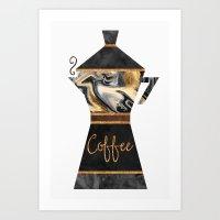 coffee Art Prints featuring Coffee by Elisabeth Fredriksson