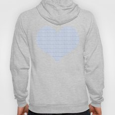 Serenity Blue Faux Lace  Hoody