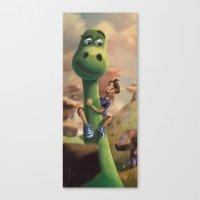 Pretty Sure Dinosaur Canvas Print