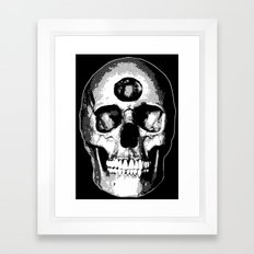Third Eye Bones (Black and White Edition) Framed Art Print