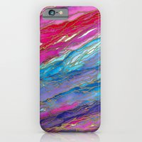 AGATE MAGIC PinkAqua Red Lavender, Marble Geode Natural Stone Inspired Watercolor Abstract Painting iPhone 6 Slim Case