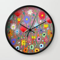 Flowers-Abstracts  Wall Clock
