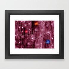 Midnight walk Framed Art Print