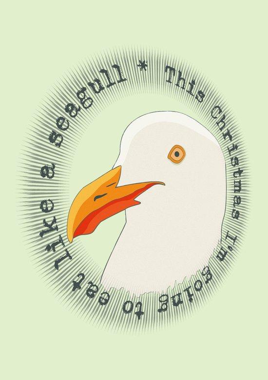 Eat like a seagull  Art Print