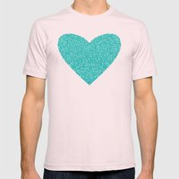 Aqua Love Mens Fitted Tee Light Pink SMALL