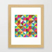 Crazy Squares Framed Art Print