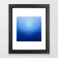 Blue Stained Glass  Framed Art Print