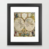 Antique Map Framed Art Print