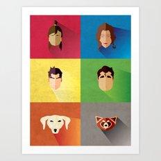 Legend of Korra Flat Poster (Team Korra!) Art Print