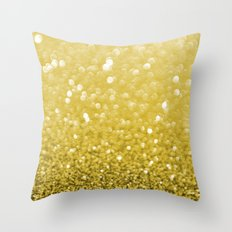 Pure Gold Powder texture Throw Pillow