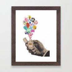 The Flame Framed Art Print