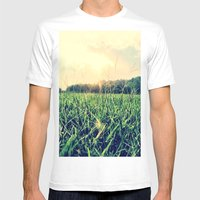 In The Grass Mens Fitted Tee White SMALL