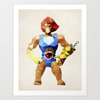 Polygon Heroes - Lion-O Art Print