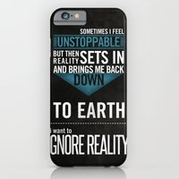 iPhone & iPod Case featuring Ignore Reality by Josh Hudnall
