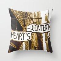 Content Heart Throw Pillow