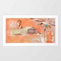 Aviator Orange Art Print