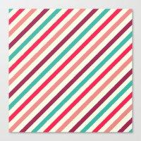 Striped. Canvas Print