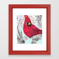 Cardinal Thoughts Framed Art Print
