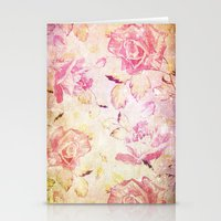 VINTAGE FLOWERS IX - for iphone Stationery Cards