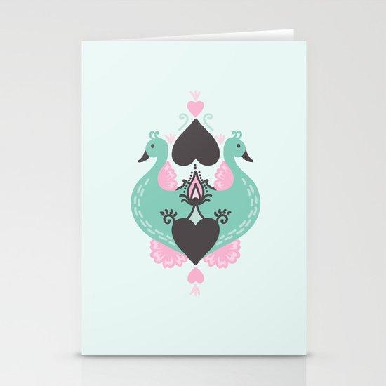 Pretty Peacocks Stationery Card