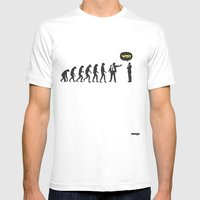 WTF? Evolution! Mens Fitted Tee White SMALL