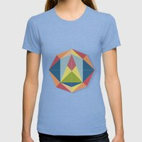 Prisme 1 Womens Fitted Tee Tri-Blue SMALL