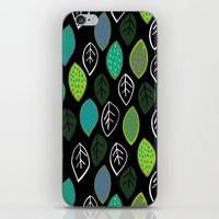 Modern Abstract Leaf Pat… iPhone & iPod Skin