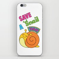 Save a Snail Today! iPhone & iPod Skin