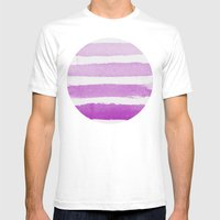 Purple Ombre  Mens Fitted Tee White SMALL