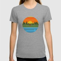 Camping Womens Fitted Tee Tri-Grey SMALL