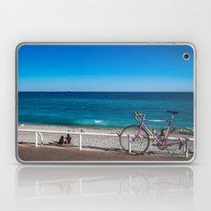 Beach and the bike - Nice, France summer Laptop & iPad Skin