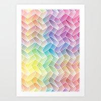 Zigzag & Zigzag Art Print