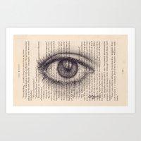 Eye In A Book Art Print