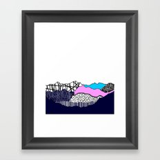 Partay on the mountain Framed Art Print