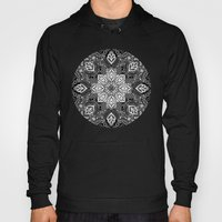 Gypsy Lace in White on Black Hoody