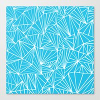 Ab Fan Electric Blue Canvas Print