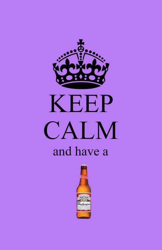 KEEP CALM BUD Art Print