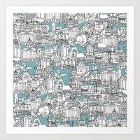 NOTTINGHAM BLUE Art Print