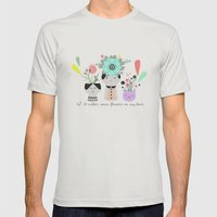 I´d Rather Wear Flowers… Mens Fitted Tee Silver SMALL