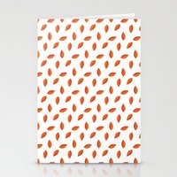 Orange Leaves Stationery Cards