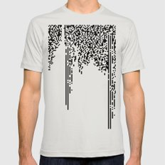 QR-antine V 0.2 Mens Fitted Tee Silver SMALL