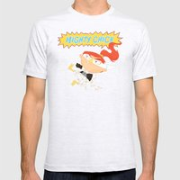 Mighty Chick Mens Fitted Tee Ash Grey SMALL